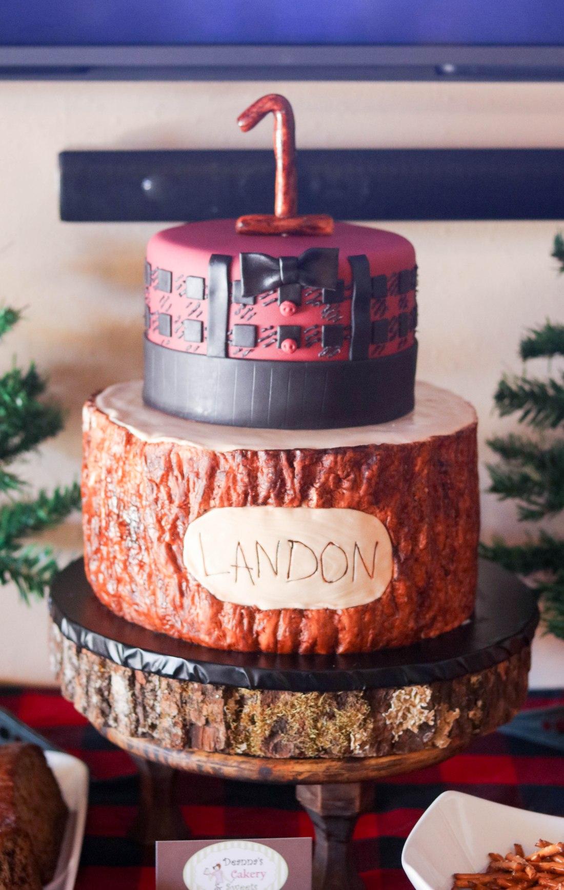 Lumberjack Tier Cake